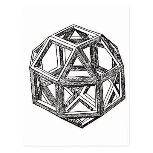 Rhombicuboctahedron, Leonardo Da Vinci Postcards