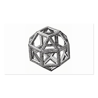 Rhombicuboctahedron, Leonardo da Vinci Tarjetas De Visita