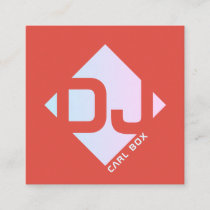 Rhomboid geometric bold cover square business card