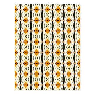 Rhombus amarillo. Diseño retro geométrico Postal