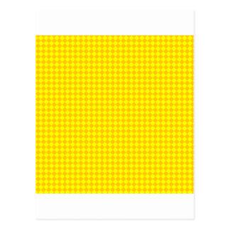 Rhombus - amarillo y amarillo de la mandarina tarjetas postales