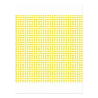 Rhombus - amarillos claros y maíz tarjetas postales