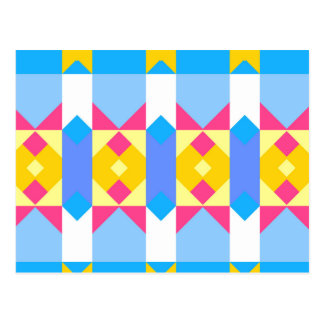 Rhombus and other shapes abstract design postcard