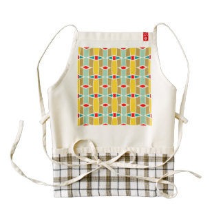 Rhombus and other shapes pattern zazzle HEART apron