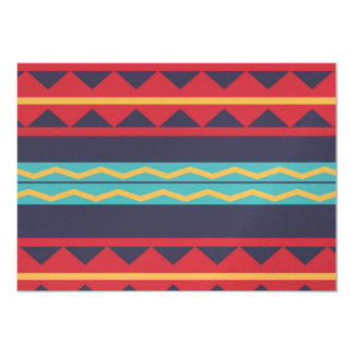 Rhombus and stripes chains pattern card