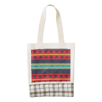 Rhombus and stripes chains pattern zazzle HEART tote bag