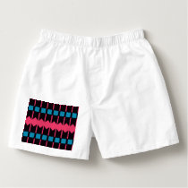 Rhombus and stripes pattern boxers