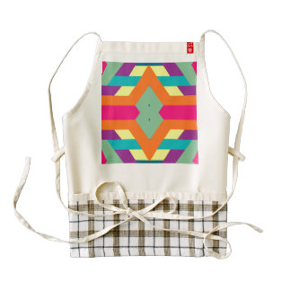 Rhombus and stripes zazzle HEART apron