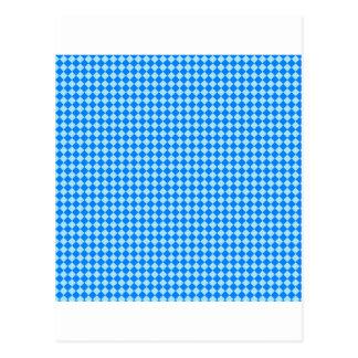 Rhombus - azul y azul de la ventisca postales
