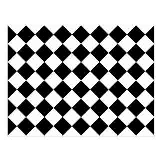 Rhombus blanco y negro tarjetas postales