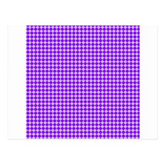 Rhombus - cardo y violeta tarjetas postales