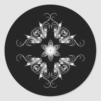 rhombus classic round sticker