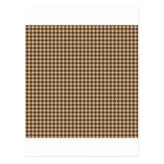 Rhombus - de color caqui y Brown oscuro Postal
