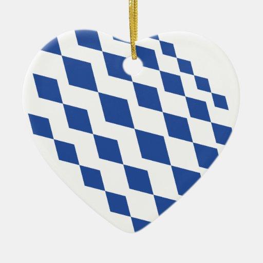 Rhombus design.ai adorno navideño de cerámica en forma de corazón