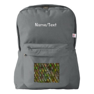 rhombus, diamond patterned green (I) Backpack
