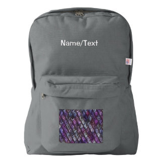rhombus, diamond patterned lilac (I) Backpack