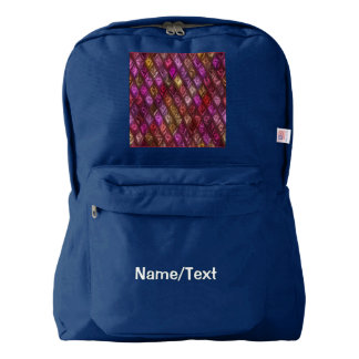 rhombus, diamond patterned pink (I) Backpack