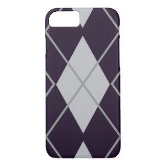 Rhombus geometric purple and white Halloween iPhone 7 Case