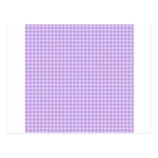Rhombus - glicinias y lavanda pálida tarjetas postales