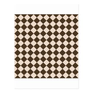 Rhombus grandes - almendra y café Noir Tarjetas Postales