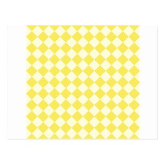Rhombus grandes - amarillo claro y maíz tarjetas postales