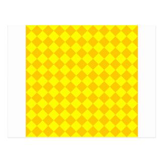 Rhombus grandes - amarillo y amarillo de la tarjetas postales