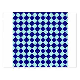 Rhombus grandes - azul claro y azules marinos postales