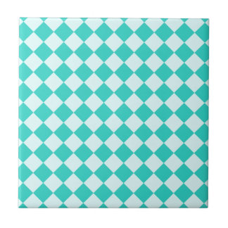 Rhombus grandes - Celeste y turquesa Teja Cerámica