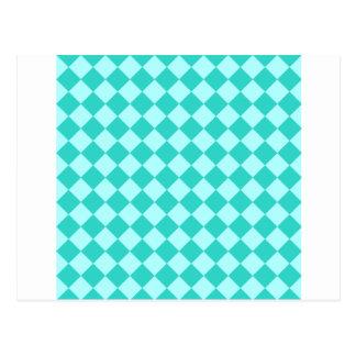 Rhombus grandes - Celeste y turquesa Tarjeta Postal
