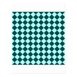 Rhombus grandes - Celeste y verde profundo de la Tarjetas Postales