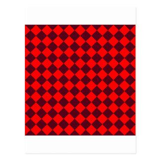 Rhombus grandes - escarlata rojo y oscuro tarjetas postales