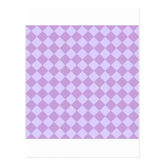 Rhombus grandes - glicinias y lavanda pálida postales