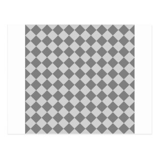 Rhombus grandes - gris y gris claro tarjeta postal