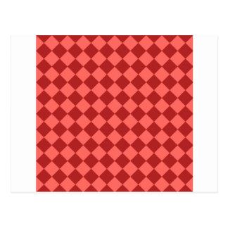 Rhombus grandes - rojo en colores pastel y tarjeta postal