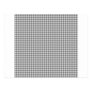 Rhombus - grises y grises claros tarjeta postal
