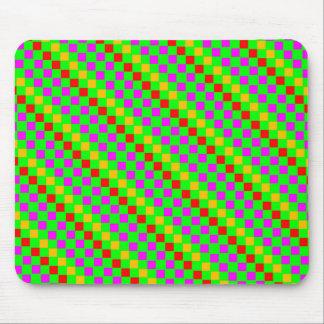 Rhombus multicolor Mousepad de la cal verde