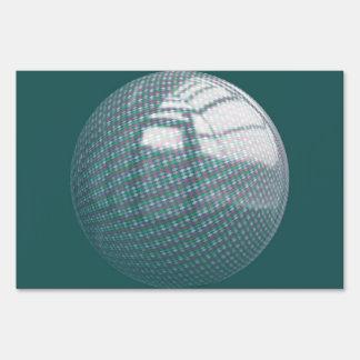 Rhombus pattern ball signs