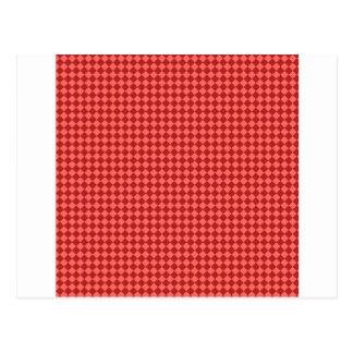 Rhombus - rojo en colores pastel y Firebrick Tarjeta Postal