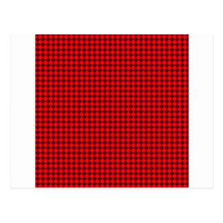 Rhombus - rojos y escarlata oscuro postales