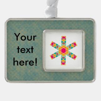 Rhombus star christmas ornament