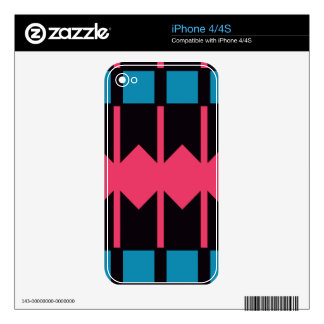 Rhombus y modelo de las rayas skins para eliPhone 4S