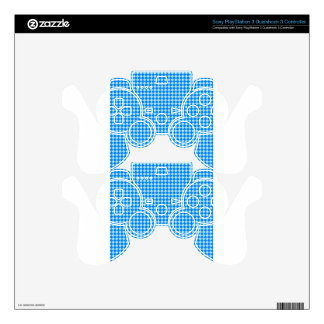 Rhombuses - Blizzard Blue and Azure Skin For PS3 Controller