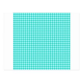 Rhombuses - Celeste and Turquoise Postcard