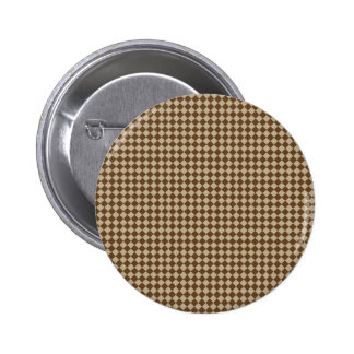 Rhombuses - Khaki and Dark Brown Pinback Button