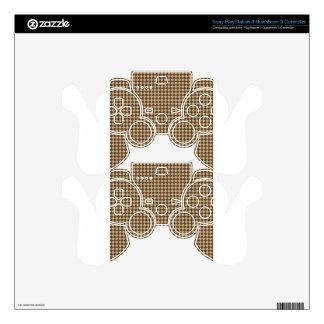 Rhombuses - Khaki and Dark Brown PS3 Controller Skins