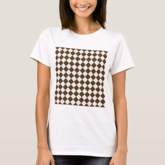 Rhombuses Large - Almond and Cafe Noir T-Shirt
