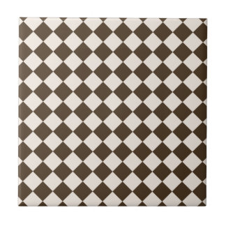 Rhombuses Large - Almond and Cafe Noir Tile