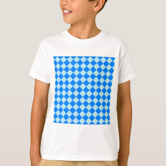 Rhombuses Large - Blizzard Blue and Azure T-Shirt