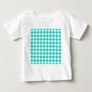 Rhombuses Large - Celeste and Turquoise Baby T-Shirt