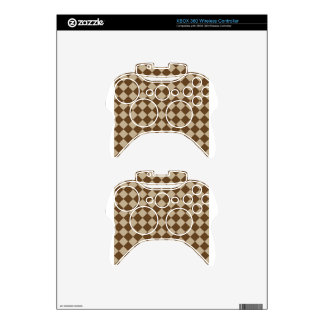 Rhombuses Large - Khaki and Dark Brown Xbox 360 Controller Skin